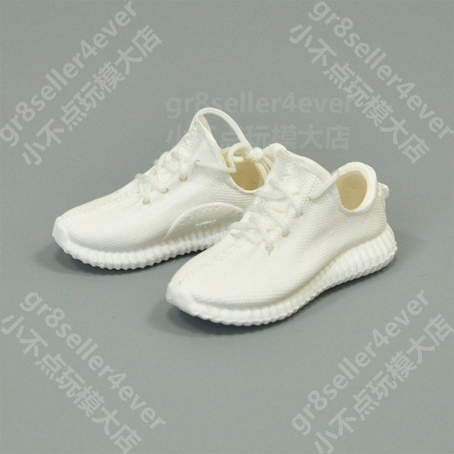 separation shoes be837 5cd87 US $12.5 |1/6 skala weibliche Weiße Yeezy 350 Sneaker Stiefel schuhe fit 12