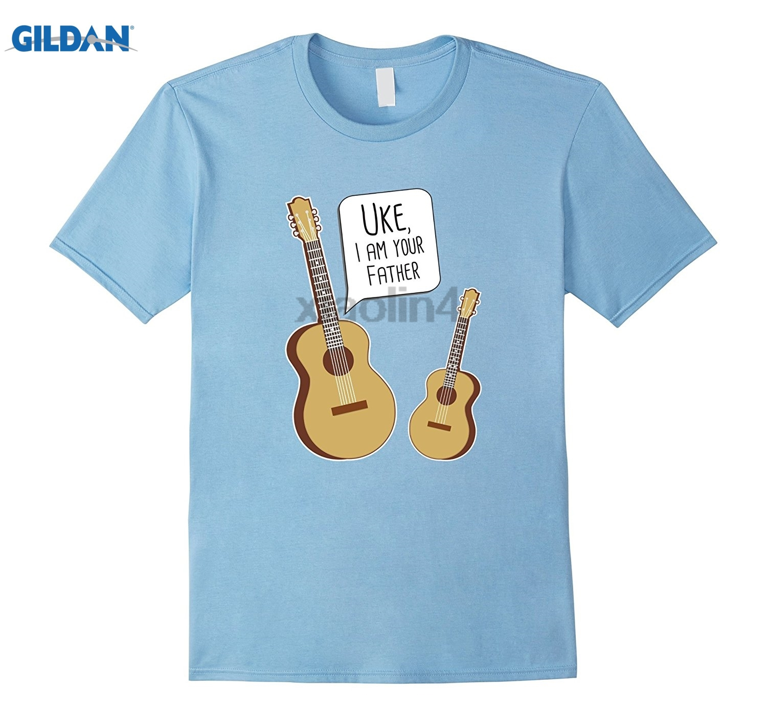 GILDAN Uke I Am Your Father - Funny Guitar and Ukulele Shirt Adult T-shirt Pattern Mothers Day Ms. T-shirt