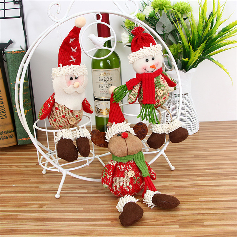 Christmas Decorations To Make At Home For Free: Christmas Ornaments Gift Santa Claus Snowman Reindeer Toy