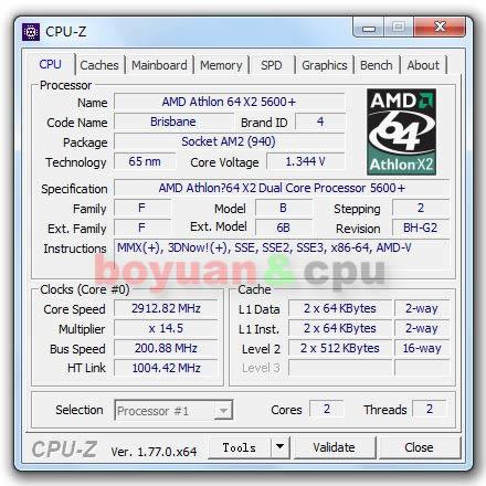 AMD Athlon 64 X2 5600+ 2 9 GHz Dual-Core CPU Processor ADO5600IAA5DO /  ADO560BIAA5DO Socket AM2