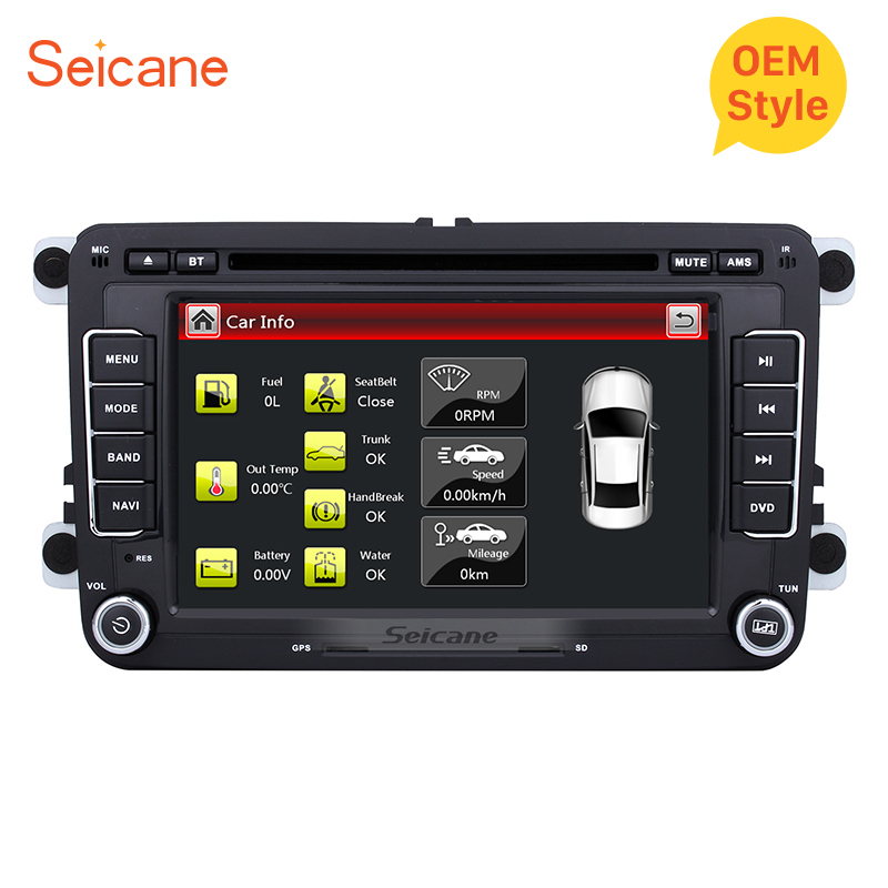 Seicane 7 Car DVD Radio Player multimedia tape recorder For VW Volkswagen Polo Tiguan Golf Plus Passat b5 b6 Skoda Yeti Superb