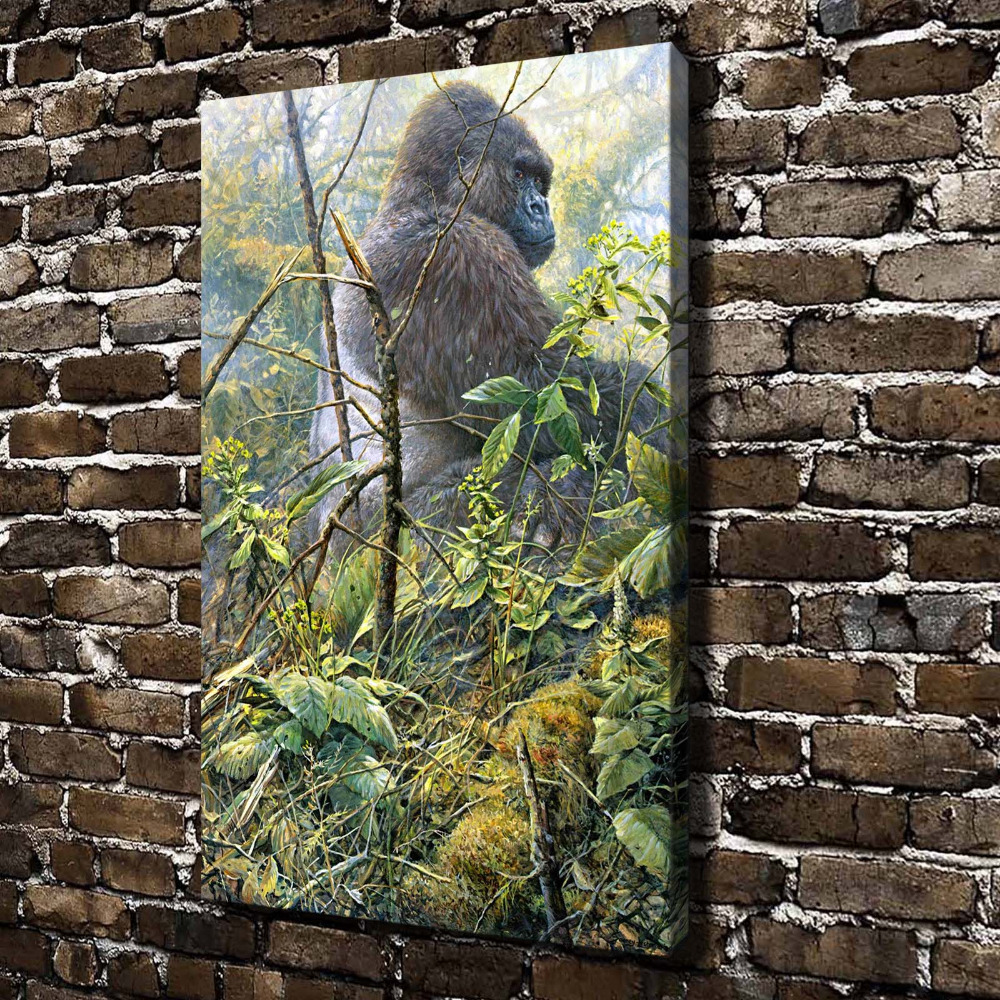 aliexpress com buy a0697 natural scenery gorilla animals hd