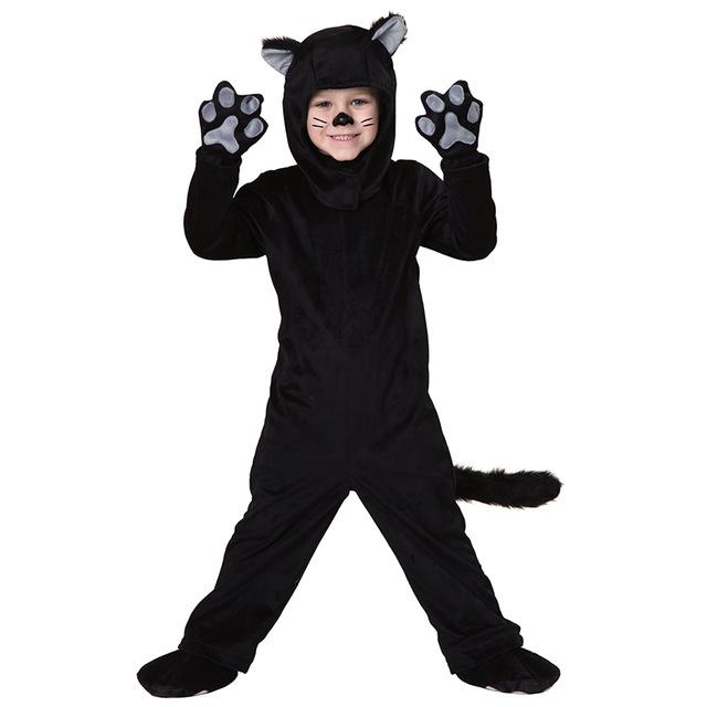 beb negro gato invierno nio disfraces cosplay nios kid traje de invierno clido ropa de halloween