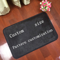 Customized mat anti slip carpet printed your design picture photo Flannel Floor Custom Rectangle Carpets for Living Room tapete