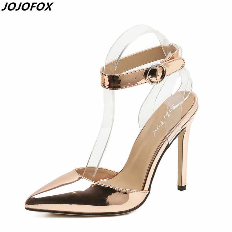 fe67a26ef9e408 New Women Narrow Toe Pumps Sexy Slingbacks Clear Band Ankle Buckle High Heels  Ladies Wedding Bridal