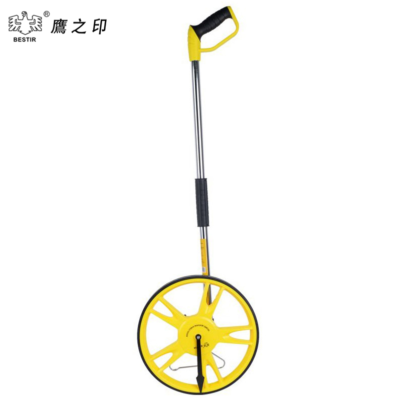 BESTIR 99999.9M Foldable Large Distance Measuring Wheel In Bag Road Land with Support Stand mechanical 01381 large land