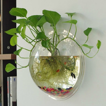 Acrylic Fish Bowl Wall Hanging Aquarium Tank Aquatic Pet Supplies Pets Product Mount Pot Plant Vase Mounted Home Decoration