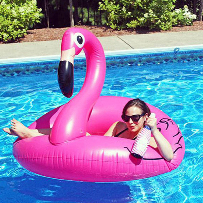 HziriP 1Pcs New Arrivals Inflatable Pool Toys High Quality Cartoon Animals Pink Cute Pool for Grownups Water Holiday Fun Party