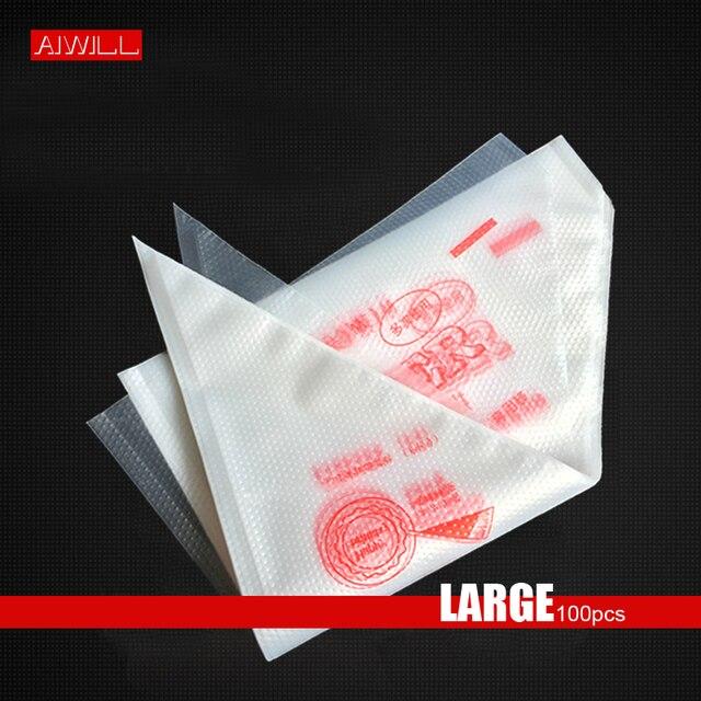 AIWILL [Grande] 100 peças Ferramentas de Cozimento Descartáveis sacos de Plástico Espessamento Saco Saco de Decoração Creme Espremendo
