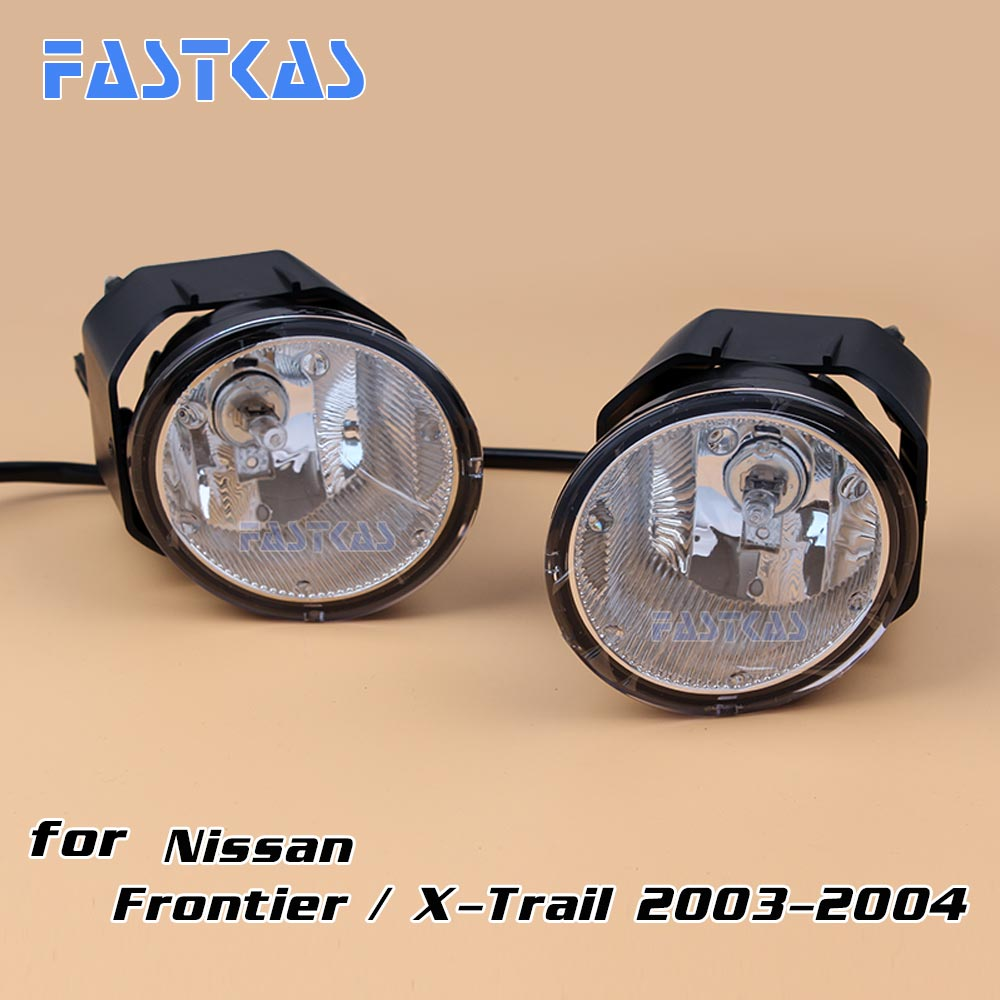 12v 55W Car Fog Light Assembly for Frontier / X-trial 2003-2004 Front Fog Light Lamp with Harness Relay Fog Light kit 12v 55w car fog light assembly for ford focus hatchback 2009 2010 2011 front fog light lamp with harness relay fog light