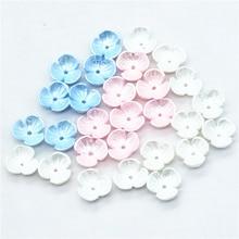 50 шт 10 мм Смешанные три цвета жемчужные цветы Кабошоны | полимерные плоские с оборота цветы для скрапбукинга миниатюры | Искусственные цветы миниатюры