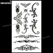 SHNAPIGN Lizard Bat Temporary Body Art Flash Tattoo Sticker 10x17cm Waterproof Henna Fake Tatoo Car Styling Wall Tattoo Sticker