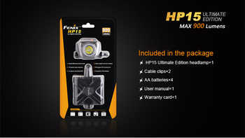 Fenix HP15 UE Cree XM-L2 LED Headlamp 900 Lumens LED Headlight Flashlight Torch+ Free Shipping