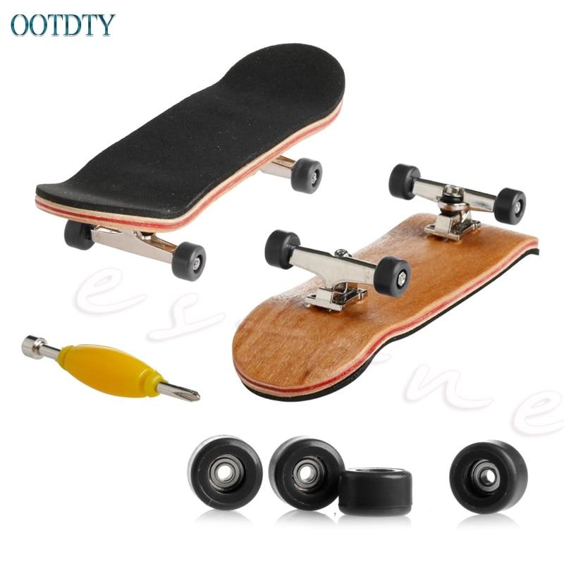 Hot Selling 1Pc Wooden Deck Fingerboard Skateboard Sport Games Kids Gift Maple Wood #330