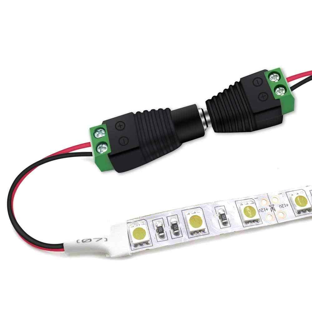 BLYN DC konnektör 5.5mm x 2.1mm jak soketi erkek ve dişi LED CCTV için adaptör güç dönüştürücü LED şerit ışık bağlantısı