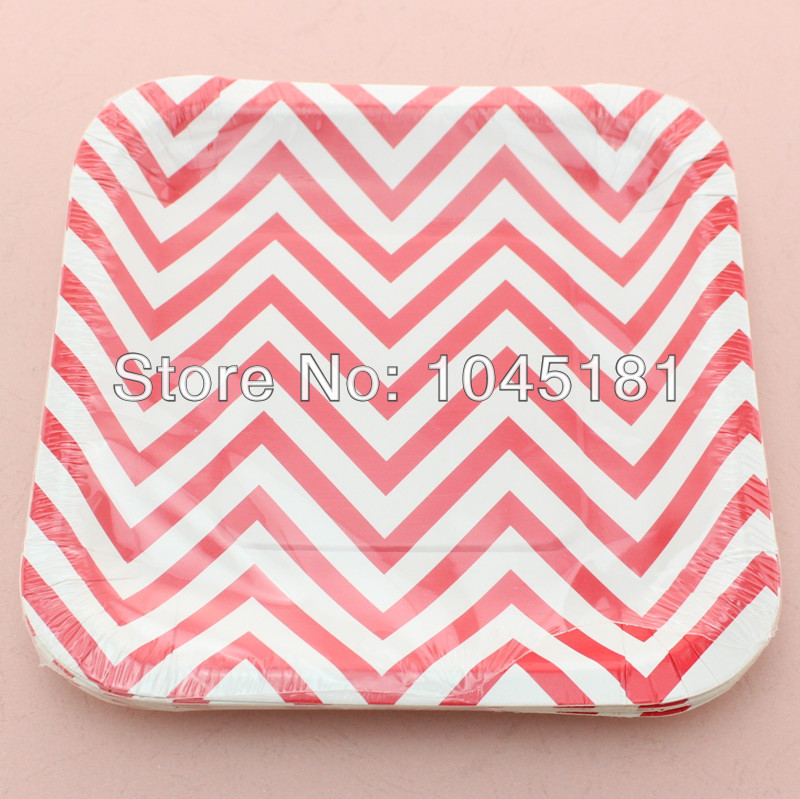 ipalmay Free Shipping Square 7\  Chevron Paper Plates for Kids Birthday Party Favors Supplies-in Disposable Party Tableware from Home \u0026 Garden on ...  sc 1 st  AliExpress.com & ipalmay Free Shipping Square 7\