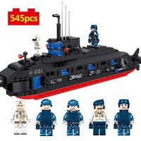 WW2 Military series Submarine model Building Blocks army soldier Figures city Enlighten Toys for Children gifts series legoings