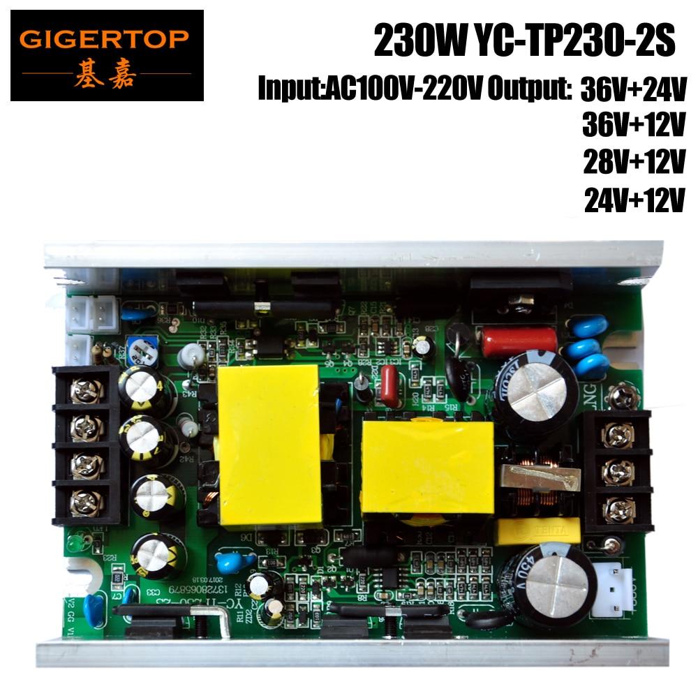 YC-TP230-2S 230 W 7R Sharpy Faisceau Mobile Head Light Professisonal Pleine Puissance de Travail Carte D'alimentation 36 V/28 V/24 V/12 V Sortie En Option