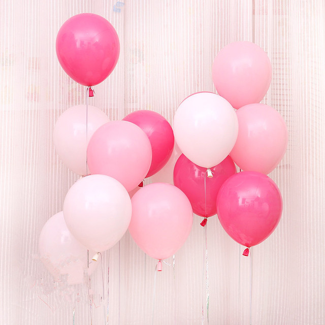 Aliexpress Com Buy Pink White Red Balloons Latex 10pcs