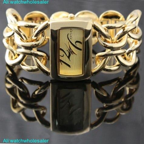 Double Clasp Chain Gold Tone Dial Bracelet Watch women 2017 gorgeous quartz wristwatch ladies watches horloge dames montre femm element charm watch silicone band wrist watches quartz watch multicolor women girls dames horloge