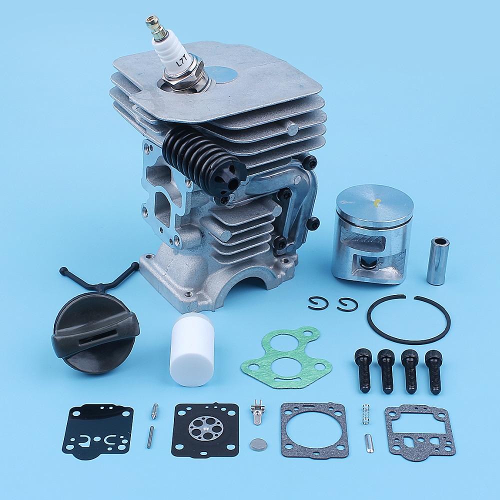 Kit de réparation de Piston de cylindre de 41mm pour Husqvarna 435 435e 440 440e 440 II pièce de rechange de bouchon de gaz de boulon de montage de tampon de tronçonneuse
