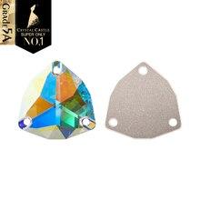 Кристалл замок Стразы для шитья 5A отличные триллиантные треугольные драгоценные камни кристалл AB пришивные стразы для гимнастики