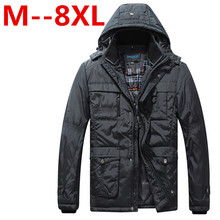 8XL 6XL 5XL 4XL winter Men Jaket Brand warm Jacket Man s Coat Autumn Cotton Parka