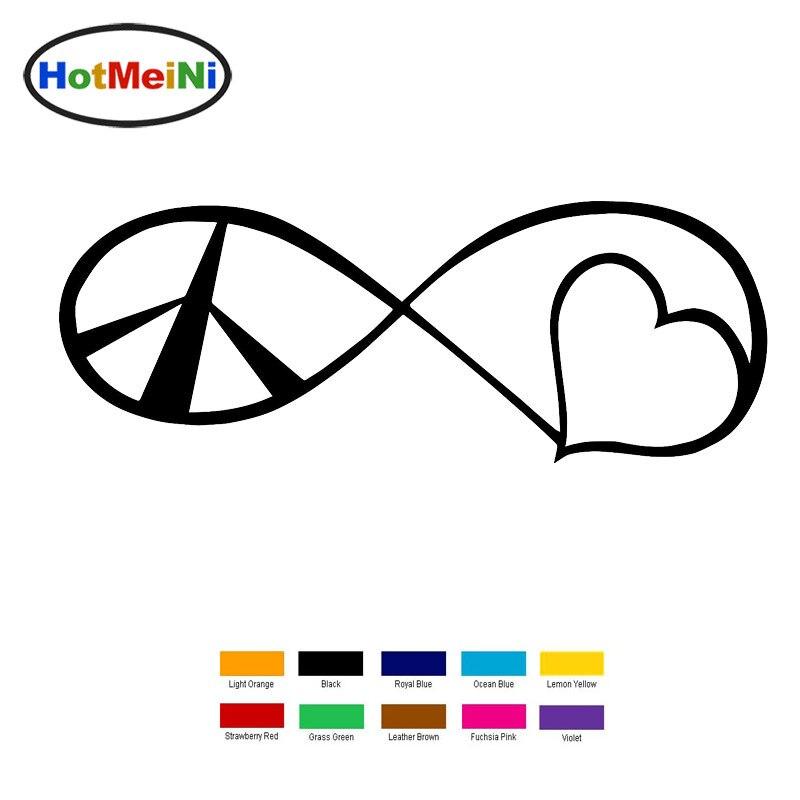 Hotmeini 15x5.5 см любовь символ мира автомобиля Стикеры для грузовик окно бампер авто внедорожник двери ноутбук каяк Viny черный/серебристый