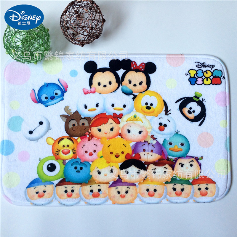 Cartoon Mickey And Minnie Mouse Mat 38x58cm Door Mat Bathroom Mat Kitchen Kids Boys Girls Crawling Game Mat Bedroom Carpe