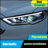 Car styling Head Lamp For Ford Mondeo Fusion Headlights 2017 2018 LED Headlight Assembly DRL LED Dynamic Turn Signal Light