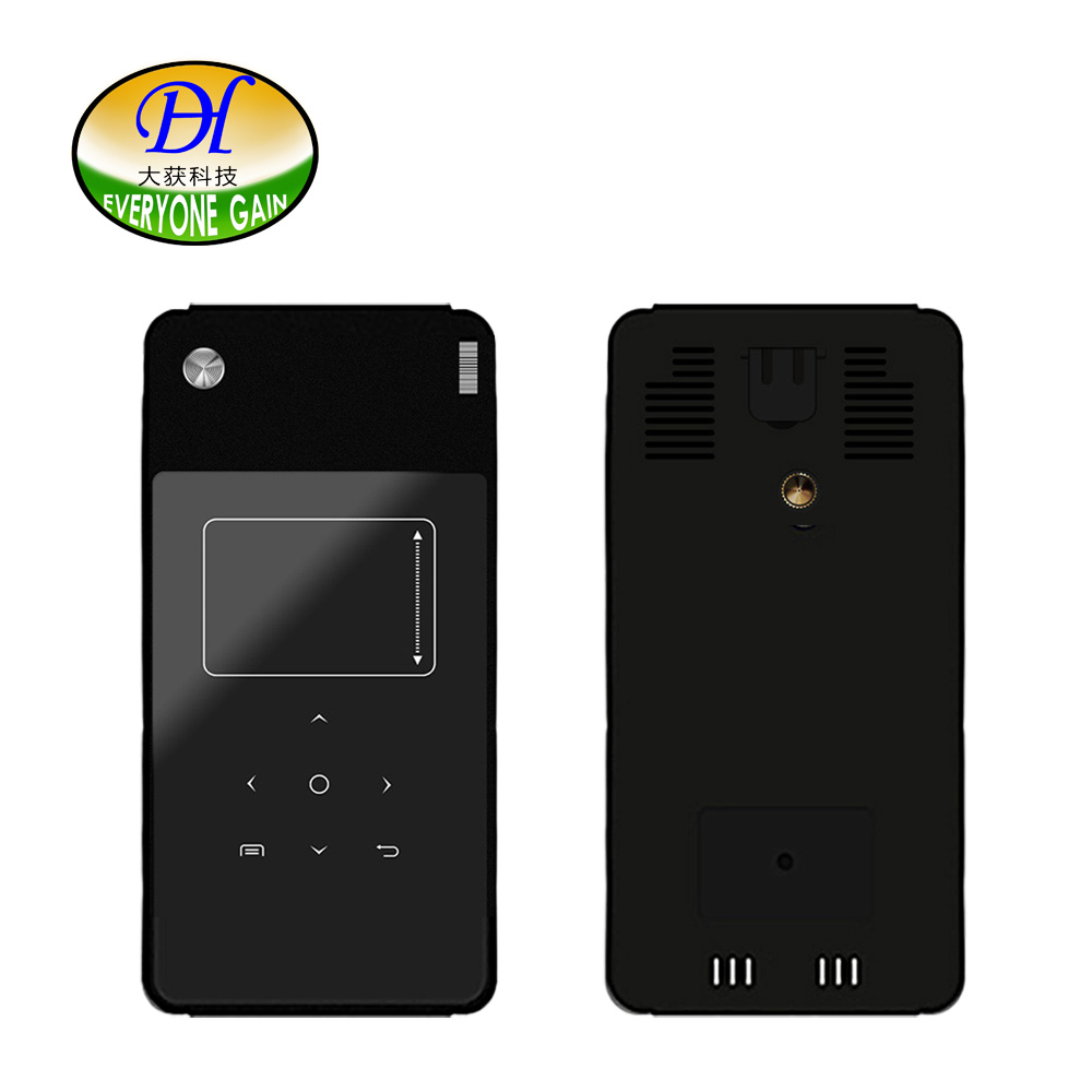 Everyone Gain A9F Mini Proyector with 5400mAh font b Smartphone b font Projector DLP Android for