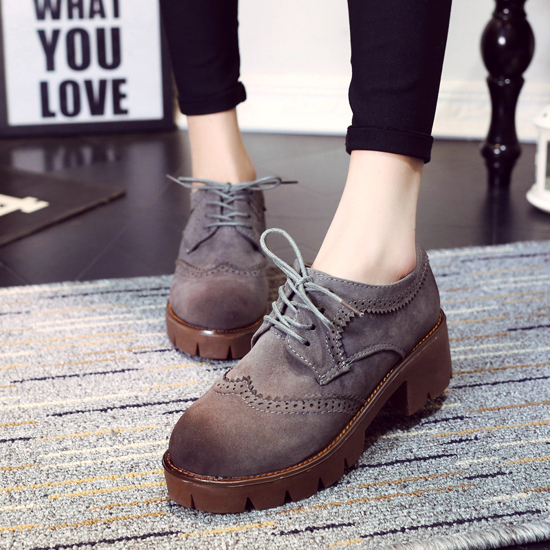 Chunky Oxford Heels Promotion-Shop for Promotional Chunky Oxford ...