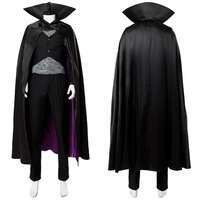 Hotel Transylvania 3: Summer Vacation Dracula Cosplay Coustume Adult Men Black Outfit Uniform Halloween Carnival Cosplay Costume
