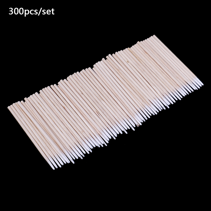 300Pcs Tampons Makeup Stick Pointed Swabs Permanent Makeup Ear Cleaning Cotton Swabs