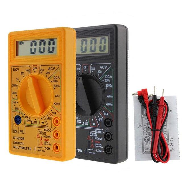 LCD Digital Multimeter DT-830B Electric Voltmeter Ammeter Ohm Tester AC/DC 750/1000V Amp Volt Ohm Tester Meter