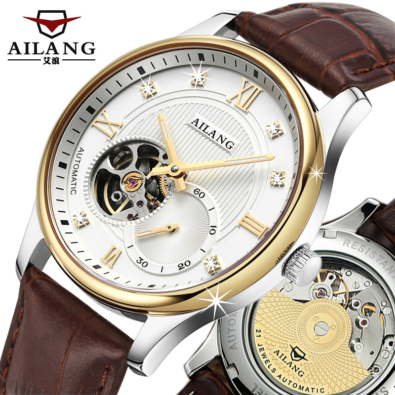 Luxury brand Tourbillon watch Men 5 point small Leather Watchband fashion fashion second automatic watch 100 meters waterproof