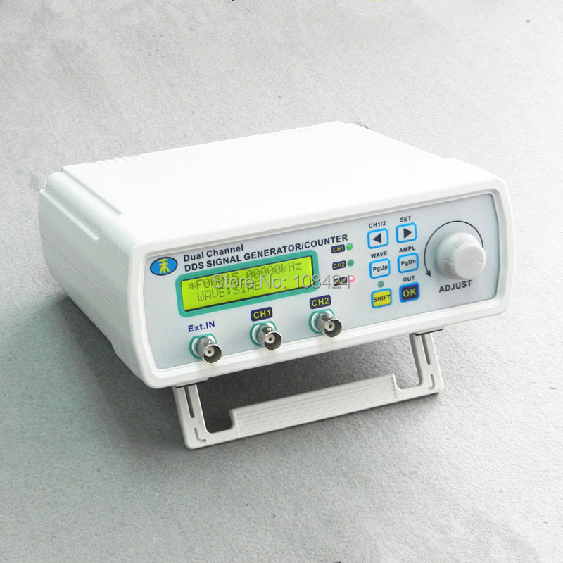 цена на MHS-5200A High Precision Digital DDS Dual-channel Signal Source Generator Arbitrary Waveform 50mA 6MHZ Low Power