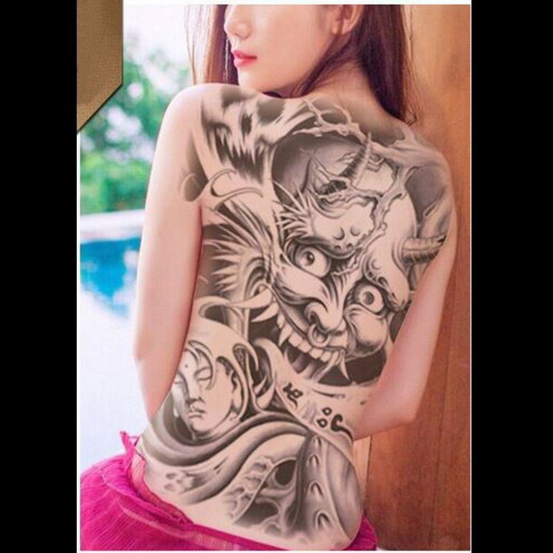Tahan Air Sementara Tato Super Besar Tato Palsu Penuh Kembali Stiker Keren Untuk Pria Dan Wanita Tidak Beracun Tubuh Seni Transfer Tato Aliexpress