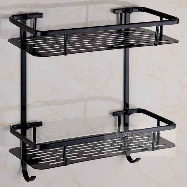 US $38.4 20% OFF|AUSWIND vintage Raum aluminium schwarz geölt bronze regal  Platz regal bad produkt wandhalter bad accessoires in AUSWIND vintage Raum  ...