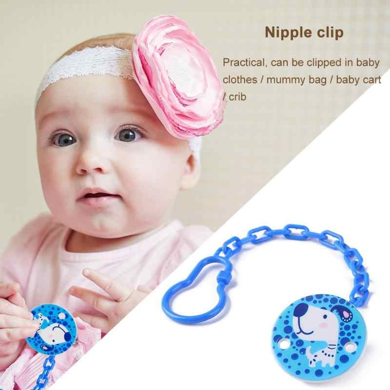 Cartoon Baby Dummy Pacifier Soother Nipple String Chain Clip Dummy Holder CS