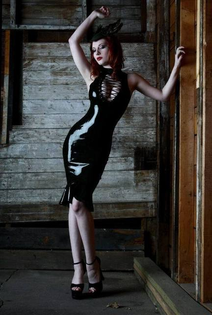 custom dresses Fetish pvc vinyl