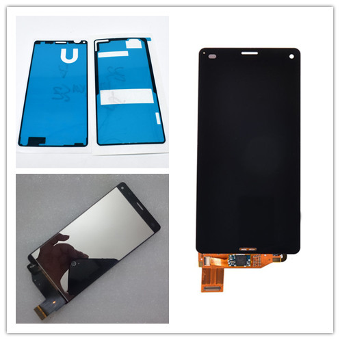 JIEYER 4.6 polegada Para Sony Xperia Mini Z3 D5803 D5833 COMPACT LCD Screen Display Toque Digitador Assembléia + Adesivo Completo