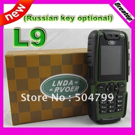 Free shipping black/amy green/orange cheap mobile phone L9 dual sim unlocked cell phone support russian keyboard