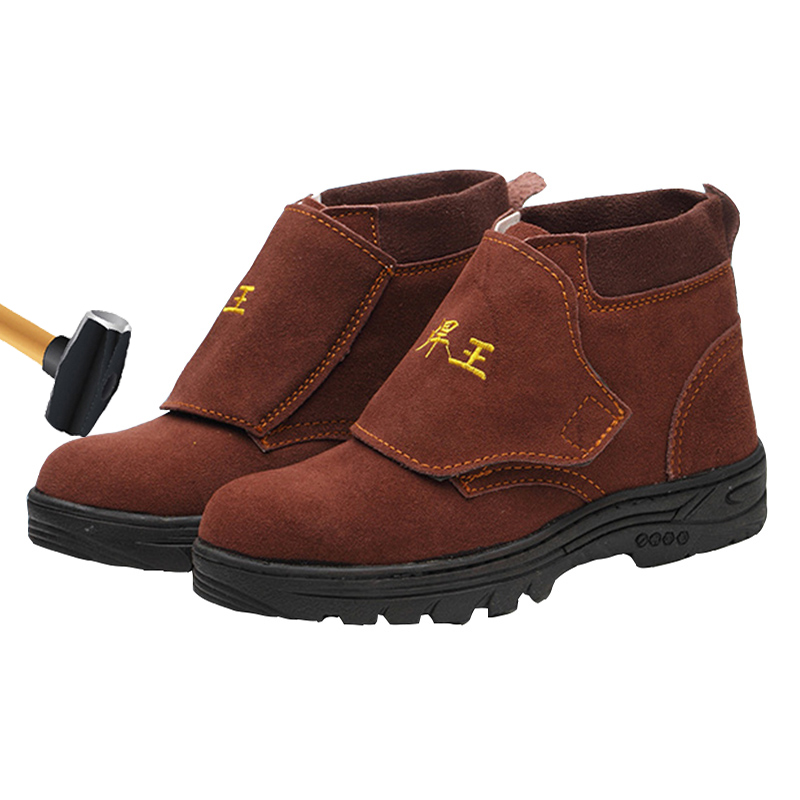 Safety Shoes 2019 New Steel Head Welding Shoes Tire Bottom Anti-smashing Wear Soft Professional Foot Protection Work Shoes Men