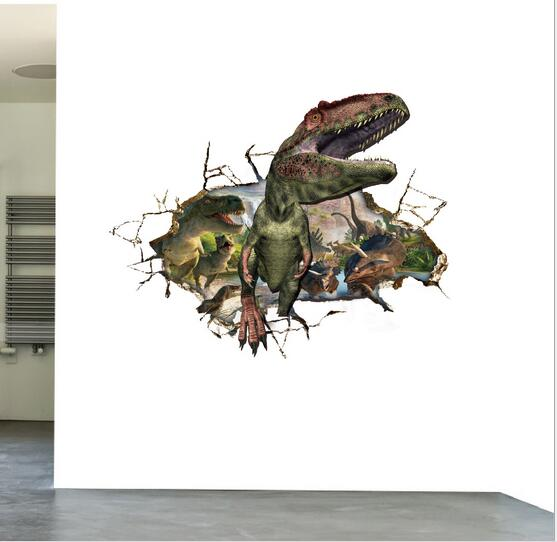 Online Get Cheap Dinosaur Wall Stickers Aliexpresscom Alibaba - 3d dinosaur wall decals