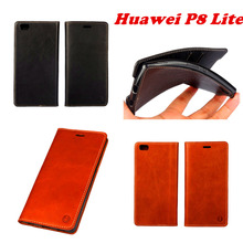 Newest Original Genuine leather Flip Case Cover For Huawei P8 Lite Case Cell Phone Shell Back