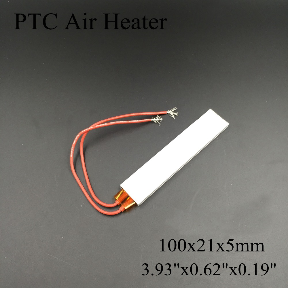 100x21mm AC/DC 12V~220V Insulated Thermistor Constant Temperature Ceramic Air Heater PTC Heating For Crimper/Egg Boiler/Hair Dry