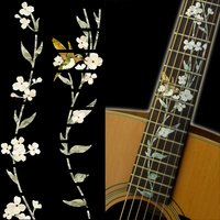 Fretboard Markers Inlay Sticker Decals for Guitar Tree Of Life with Hummingbird