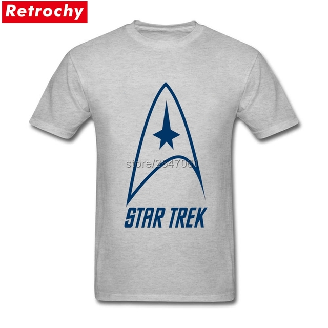 Cool Star Trek Logo T Shirt For Men American Fashion Brand T Shirts