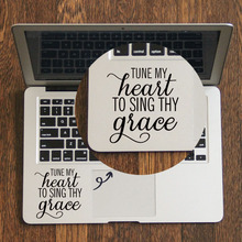 Grace Quote Decal Laptop Trackpad Sticker for Apple Macbook Pro Air Retina 11 12 13 14 15 inch HP Mac Book Touchpad Skin Sticker